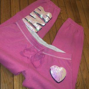 Pink Victoria's Secret Capri fitted sweatpants